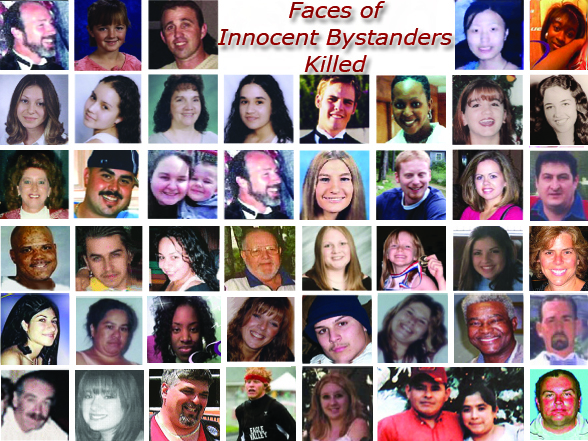 Faces of Innocent Bystanders Killed